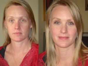 Julianne b4 and after with Amazing Cosmetics